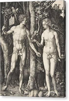 Apple Tree Canvas Print - Adam And Eve, 1504  by Albrecht Durer