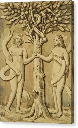 Adam And Eve Canvas Print by Joseph Manning
