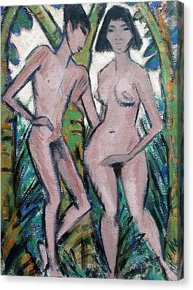Adam And Eve Canvas Print
