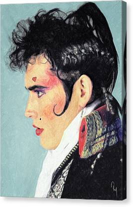 Ant Canvas Print - Adam Ant by Taylan Apukovska