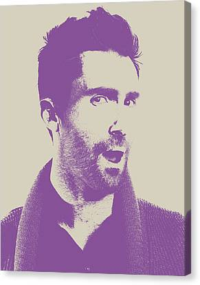 Adam Levine Maroon 5 Vector Pop Art Portrait Canvas Print by Design Turnpike