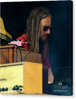 Adam Macdougall With The Black Crowes Canvas Print