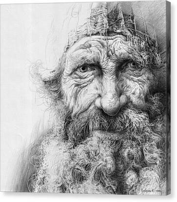 Adam. Series Forefathers Canvas Print by Sergey Gusarin