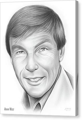 Adam West Canvas Print by Greg Joens