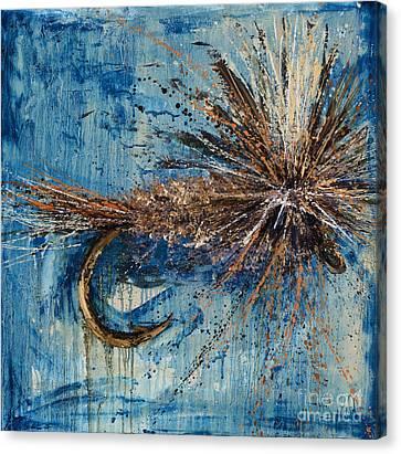Adams Parachute Fly Canvas Print by Jodi Monahan