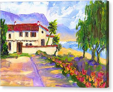 Adamson Home Malibu Canvas Print by Randy Sprout