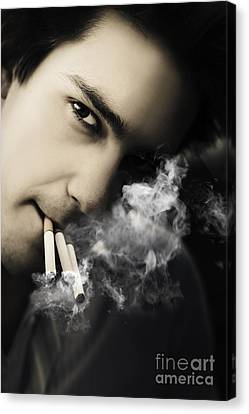 Sombre Canvas Print - Addiction And Dependency From Chronic Work Stress by Jorgo Photography - Wall Art Gallery
