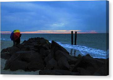 Adding Color To Buckroe Beach  Canvas Print by Olahs Photography