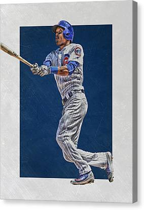Addison Russell Chicago Cubs Art Canvas Print by Joe Hamilton