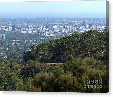 Adelaide - City From Adelaide Hills Canvas Print by Phil Banks