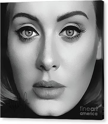 Adele Art With Autograph Canvas Print