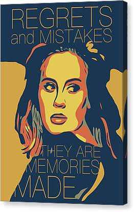 Adele Canvas Print - Adele by Greatom London