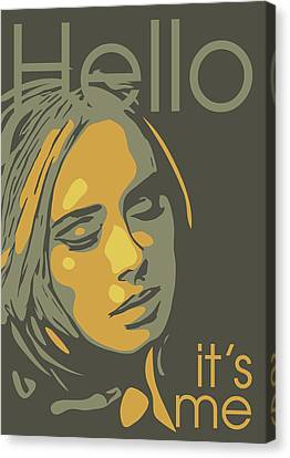 Adele Canvas Print by Greatom London