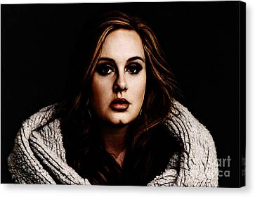 Adele Canvas Print by The DigArtisT