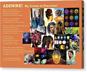 Adenike My Crown Is Precious Canvas Print