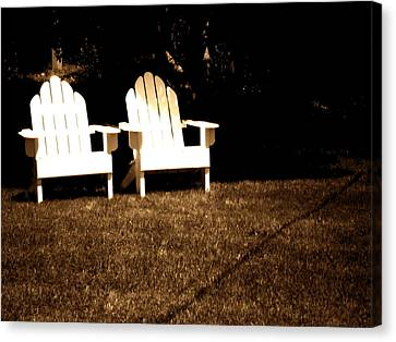 Adirondack Chairs Canvas Print by Utopia Concepts