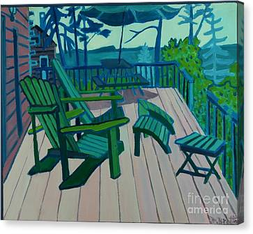 Adirondack Chairs Maine Canvas Print