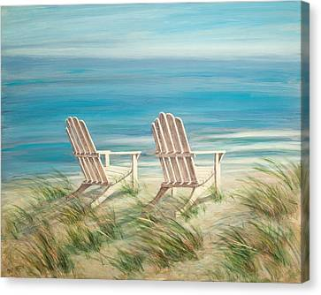 Adirondack Chairs Canvas Print by Tina Obrien