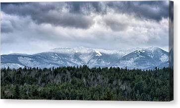 Adirondack High Peaks During Winter - New York Canvas Print by Brendan Reals