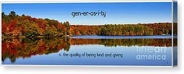 Adirondack October Generosity Canvas Print by Diane E Berry