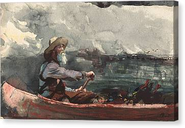 Adirondacks Guide Canvas Print by Winslow Homer