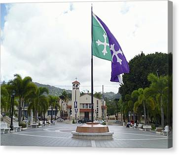 Adjuntas, Puerto Rico Flag Canvas Print
