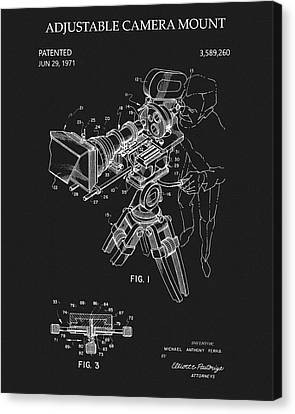 Production Canvas Print - Adjustable Camera Mount Patent by Dan Sproul