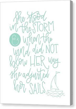 Adjusted Her Sails Canvas Print