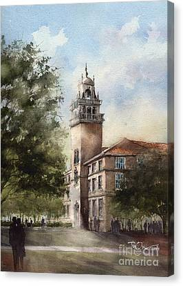 Administration Building At Texas Tech University Canvas Print