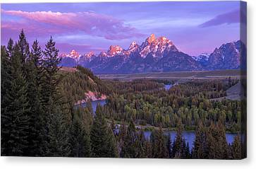 Teton Canvas Print - Admiration by Chad Dutson