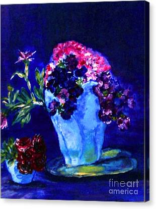Canvas Print featuring the painting Admire by Helena Bebirian