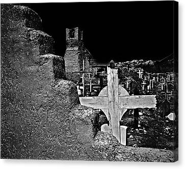 Adobe And The Cross Canvas Print by Dennis Sullivan