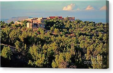 Canvas Print featuring the photograph Adobe Homestead Santa Fe by Diana Mary Sharpton