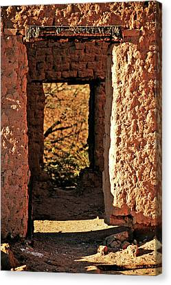 Adobe Ruin Canvas Print by Charles Benavidez
