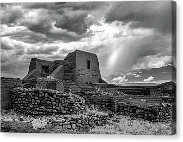 Canvas Print featuring the photograph Adobe, Stones, And Rain by James Barber