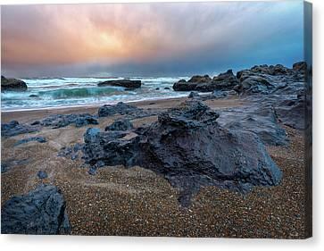 Adobe Sunset Canvas Print by C Steele