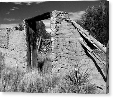 Adobe Wall And Door Canvas Print