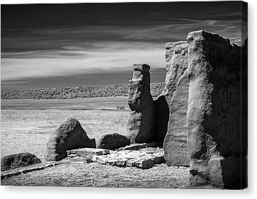 Canvas Print featuring the photograph Adobe Walls by James Barber