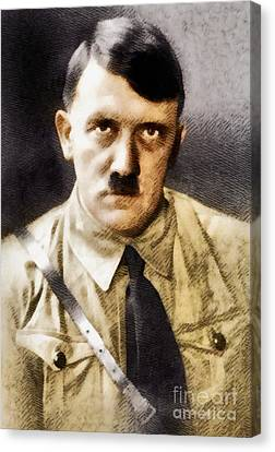 Adolf Hitler, Leader Of The Nazi Party, Wwii. History Portraits Canvas Print