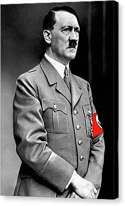 Adolf Hitler The Visionary Circa 1941 Color Added 2016 Canvas Print