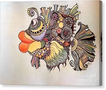 Adaptatus The Fish Canvas Print by Iya Carson