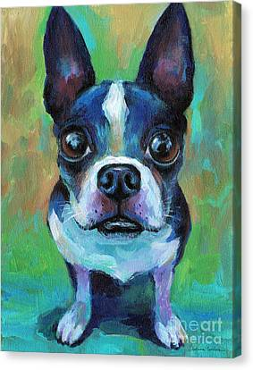 Adorable Boston Terrier Dog Canvas Print by Svetlana Novikova