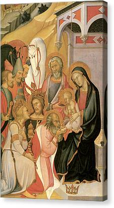 Adoration Of The Magi Di Fred Canvas Print by Bartolo Di Fredi