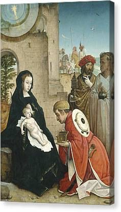 Gold Star Mother Canvas Print - Adoration Of The Magi by Juan de Flandes