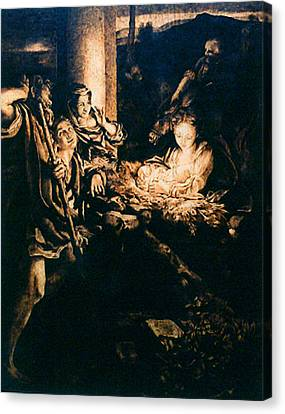 Adoration Of The Shepherds Canvas Print by Dino Muradian