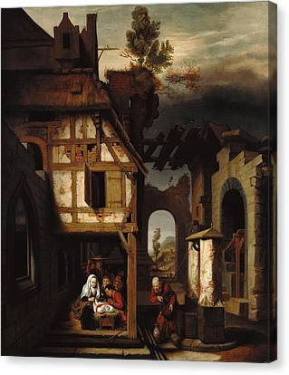 Adoration Of The Shepherds Canvas Print by Mountain Dreams