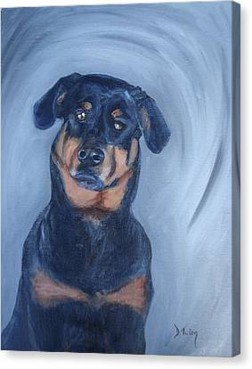Canvas Print featuring the painting Adrian by Donna Tuten