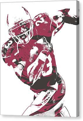 Peterson Canvas Print - Adrian Peterson Arizona Cardinals Pixel Art 1 by Joe Hamilton