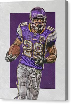 Peterson Canvas Print - Adrian Peterson Minnesota Vikings Art 5 by Joe Hamilton