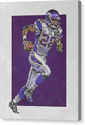 Peterson Canvas Print - Adrian Peterson Minnesota Vikings Art 6 by Joe Hamilton